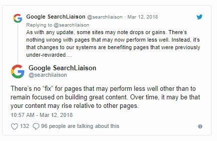 Google Medic Update Response